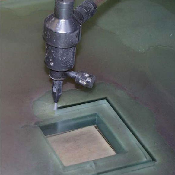 Water jet glass cutting service